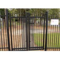 2.1mx2.4m Garrison Fencing Panels rail 50mm x 50mm  1.6mm upright 25mm x 25mm wall thick 1.2 with pedestrian gates