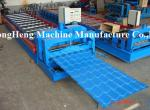 1000 mm Galzed Tile Roll Forming Machine Colorful Roofing Sheet Making Machine