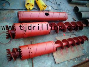 China double rotary drilling continuous flight auger 800mm Hollow stem CF augers  for double rotary piling work on sale
