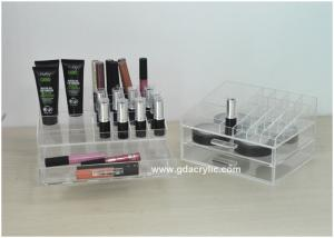 China Acrylic Cosmetic Drawer Organizer Holding Lipsticks Detachable Two Tiers on sale
