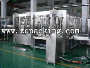 China 3000bph Tribloc carbonató la máquina de rellenar rotatoria de la bebida del gas on sale