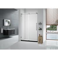 China 10mm Custom Glass Shower Doors , Frameless Glass Tub Door American Style Roller Sliding on sale