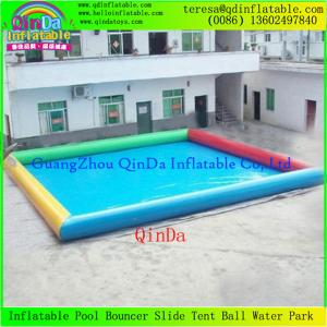 China Adult Large Inflatable Swimming Pool  0.9mm Pvc Tarpaulin For Roller Balls And Water Toys on sale