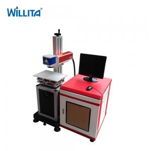 China 50w fiber laser marking machine 3 axis table top stainless steel laser printing machine on sale
