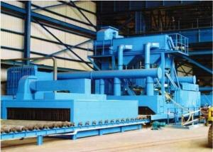 China Surface Derusting Steel Plate Shot Blasting Machine Heavy Duty Factory Use 53.2t on sale