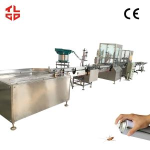 China Automatic Aerosol Spray Filling Line, Automatic Insecticide / Pesticide Filling Machines on sale