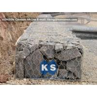 China Steel Hexagonal Wire Mesh Gabion Box / Gabion Baskets For Bridge Protection on sale