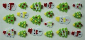 China Lovable Japanese Puffy Stickers , 3D Christmas Tree Felt Stickers on sale