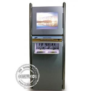 China Customized Touchscreen Mobile Phone Charging Station Self Pay Mobile Phone Charging Kiosk on sale