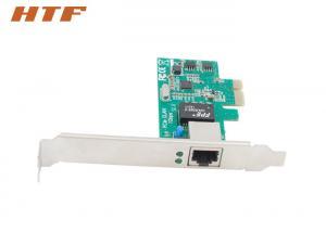 China Carte réseau simple de PCI Express du port RJ45, carte 1000Mbps de PCIE Gigabit Ethernet on sale