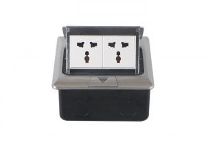 China Aluminium Built - in Pop Up Floor Receptacle With Double Positions India Type Socket on sale