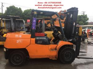 China 4 Wheel Used Diesel Forklift Truck , 5 Ton Diesel Operated Forklift 2013 on sale
