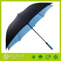 China Guarda-chuva automático do golfe da fibra de vidro Windproof de alta qualidade da dupla camada on sale