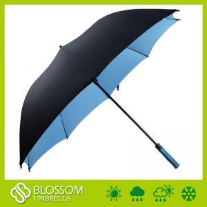 China Parapluie automatique de golf de fibre de verre protégeant du vent de haute qualité de double couche on sale