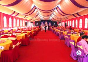 China Red Aluminum Truss Roof Systems , Beautiful Dj Lighting Truss Systems Tent With Air Condition on sale