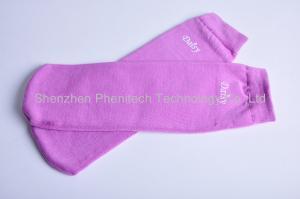 China Wearable Purple Long  Replenish Moisture Wicking Socks For Women on sale