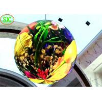 high definition indoor full color diameter 1.2m  p4 soft module  led ball screen