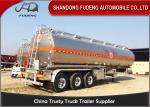 304 Stainless Steel 15000 Gallon 35000L Diesel / Gasoline Tank Trailer With 12 Wheeler
