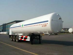 China 33000L-3 Axles-Cryogenic Liquid Lorry Tanker for Liquid Nitrogen on sale