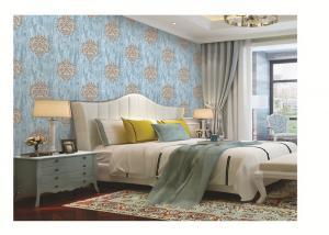China PVC vinyl wallpaper damask  design classic metallic color washable waterproof on sale