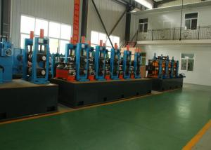 China Adjustable Pipe Size Steel Pipe Production Line Carbon Steel With 100m / Min Running Speed on sale