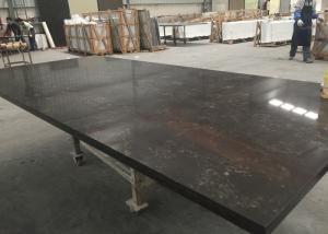 China Black Marble Looking Quartz Slab Countertops Wall Backsplash 108 X 28 Size on sale