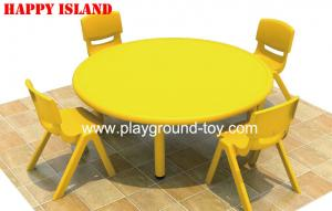 ... Quality Colorful Round Kindergarten Plastic Kids Table Furniture For  Kindergarten Classroom With Rubber Root For Learning ...