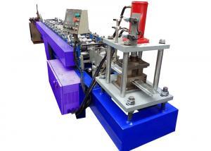 China Blue Shutter Door Roll Forming Machine , Roller Shutter Door Making Machine on sale