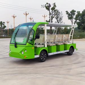 China 14 Seats Electric Sightseeing Car Golf Cart Shuttle 220v FRP Material on sale