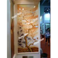 China Decorative Engraved Partition Glass Wall on sale