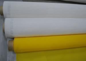 China Yellow Polyester Mesh Fabric Silk Screen Tshirt Printing High Density , 91 Micron on sale