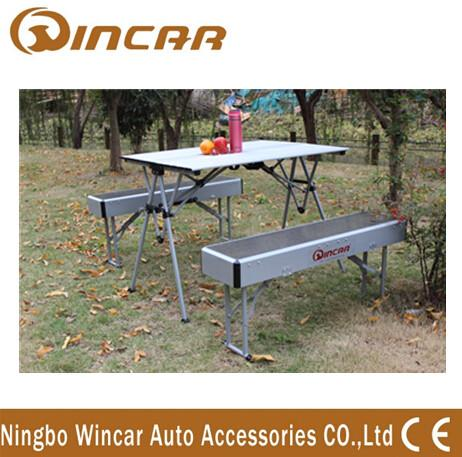 Amazing Heavy Duty Aluminum Expandable Portable Camping Table With Bench Pictures - Best of outdoor camping table Ideas