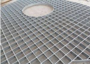 China Floor Pressure Locked Steel Grating Metal Grid Hot Galvanized Anti - Sliding on sale