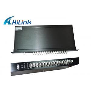 China Customized CWDM 16 Channel Mux Dual Fiber 1U Rack Mount Low Insertion Loss on sale