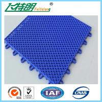 China Blue Interlocking Play Mats For Tennis Court / Modular Hockey Floor Tiles on sale