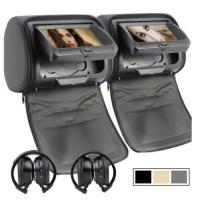 Unique mould 9 inch car portable headrest dvd player
