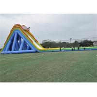 Safety Outdoor Large Blow Up Water Slide For Giant Inflatable Games