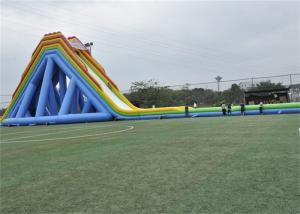 China Safety Outdoor Large Blow Up Water Slide For Giant Inflatable Games on sale
