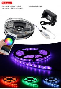 China WiFi Control RGB LED Strip 5050 Set Home Decoration Neon Light with Mini WiFi RGB Controller + 12V Power Adapter on sale