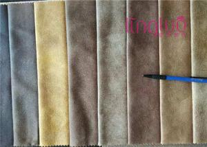 China Waterproof Polyester Suede Fabric With Grey Suede Material Bronzing Fabric on sale