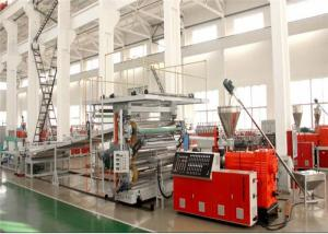 China Plastic PVC Marble Sheet Machine / Extrusion Line Stone Sculpture Flooring on sale
