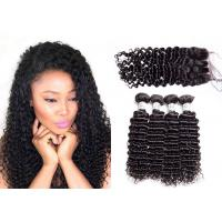 Tangle Free Deep Curly Weave Bundles With Closure Can Be Ironed And Bleached
