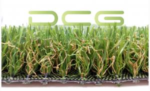 China PE Material Monofilament Artificial Grass For Yard , Fake Green Grass Olive Shape on sale