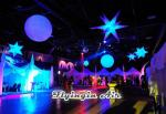 White Hanging Inflatable Star with LED Light for Party, Bar and Event Decoration