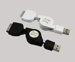 China Convenient mini customize Retractable USB Cables for mobile phone, IPod on sale