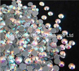China hot fix rhinestone,hot fix strass,hot fix crystal stone clear ab color on sale