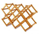 Novelty portable folding wooden bamboo display red wine bottle rack