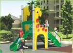 Hot sell PE board plus aluminium slide animal structure out door playground for kids
