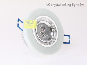 China NC led crystal ceiling light 3w on sale