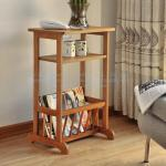 Magazine rack, bamboo phone holder, three layer shelf, bamboo wooden magazine rack